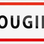 City of Mougins Traffic Sign in France Illustration